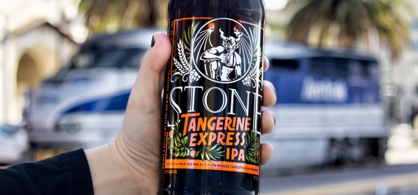 Stone Tangerine Express IPA Now On the Pacific Surfliner
