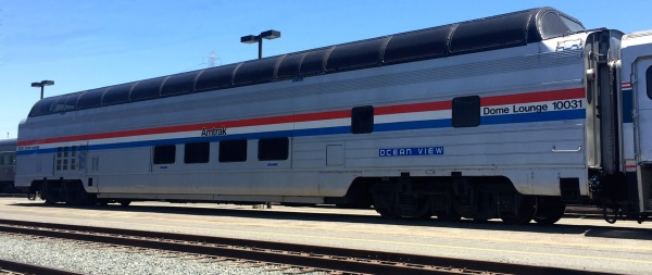 Amtrak Great Dome Car Exterior