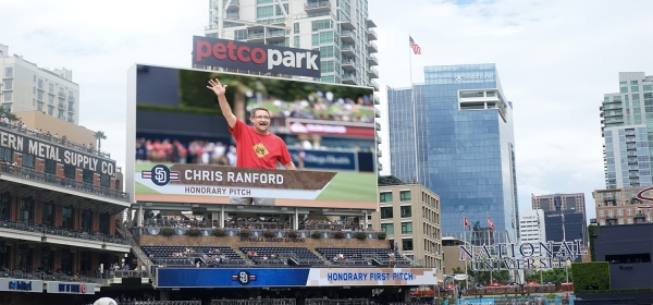 Chris Ranford Operation Lifesaver Honorary First Pitch